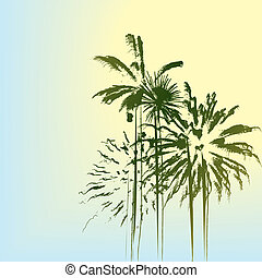 Palm trees - Summer holiday landscape with palm trees