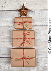 Brown Wrapped Christmas Presents