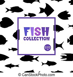 Cartoon fish collection background - Fish collection Cartoon...