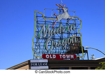 Made in Oregon sign, Portland OR. - A famous Portland Oregon...