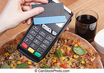 Using payment terminal with contactless credit card for...