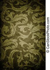 Vintage floral dark background.