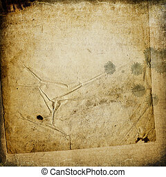 Grunge vintage background with space for text or image Old...