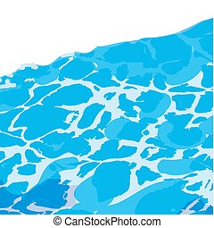 Water surface background caustic texture . - Ocean sea or...