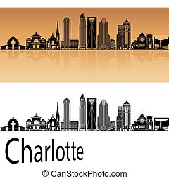 Charlotte Skylineeps - Charlotte skyline in orange...