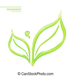 Abstract flower leaf - Abstract flower leaf in form of water...