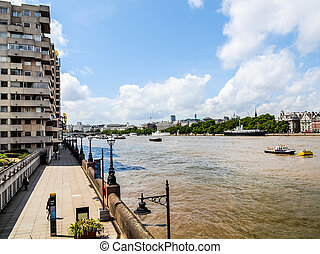 River Thames South Bank, London HDR - High dynamic range HDR...