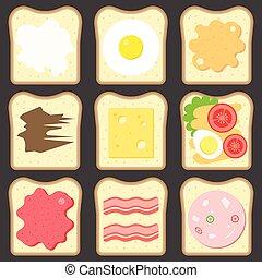 Vector sliced bread