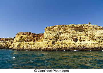 beautiful landscape with rocky ocean shore