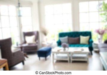 Abstract blur beautiful luxury living room interior for...