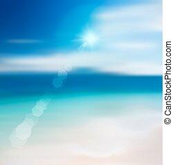 Blur Beach Background.