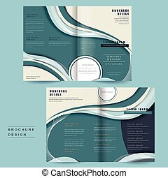 streamline bi-fold brochure - bi-fold brochure template with...