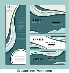 streamline banner design - banner template with streamline...
