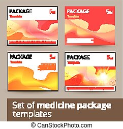 Set of medicine package design with 3d-template.