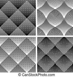 Seamless reticulate patterns set Vector art