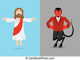 Jesus and devil. Christ and Satan. Son of God and demon...
