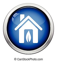 Ecological home leaf icon