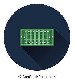 American football field mark icon. Flat color design. Vector...