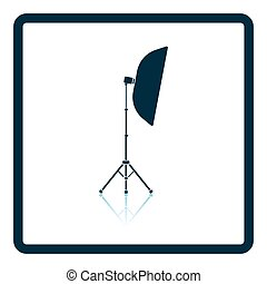 Icon of softbox light. Shadow reflection design. Vector...