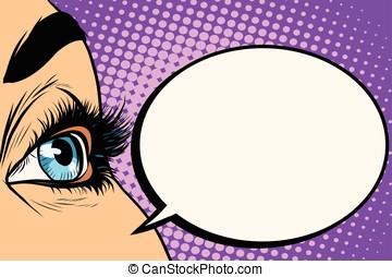 blue woman eye close-up