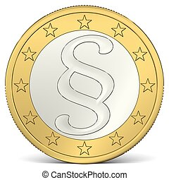 Euro Coin with Paragraph Sign - 1