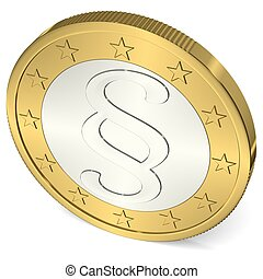 Euro Coin with Paragraph Sign - 2