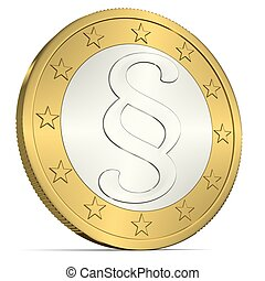 Euro Coin with Paragraph Sign - 3