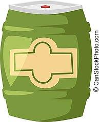 Beer barrel vector illustration. - Wooden oak barrel...
