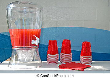 Party Punch - Punch and cups for a summer party.