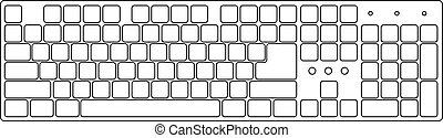 White laptop computer keyboard