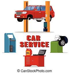 Vector concept car services - car repair and diagnostics....