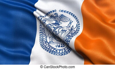 New York City flag seamless loop - Seamless loop of the flag...