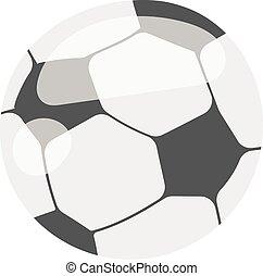 Soccer ball isolated on white illustration football sport...