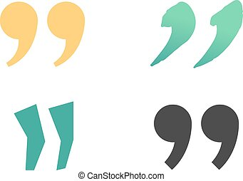 Quote sign vector set. - Quote sign icon text concept...