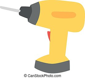 Drill hand tool flat vector. Hand drill electro tool....