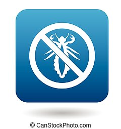 No louse sign icon, simple style - No louse sign icon in...
