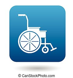 Wheelchair icon in simple style on a white background