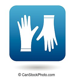 Pair of protective gloves icon, simple style - Pair of...