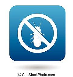 No termite sign icon, simple style - No termite sign icon in...