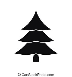 Fir tree icon, simple style - Fir tree icon in simple style...