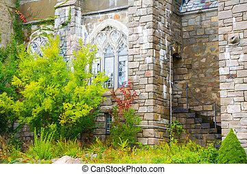 Medieval roman castle ruin, Portchester Castle, Portsmouth,...