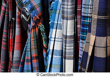 Plaid Kilts with Belt Buckle