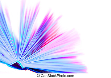 Coloured book - Overexposed big coloured book with hard...