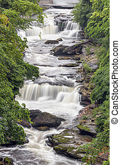 Whitewater at Cuyahoga Falls - The Cuyahoga River cascades...