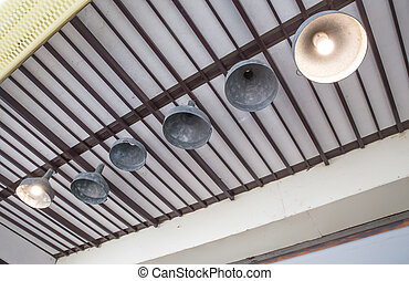Round tungsten lamps