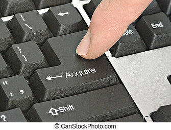 Keyboard with hot key to acquire