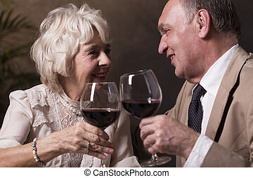 Toast for endless love and marriage - Happy elegant aged...