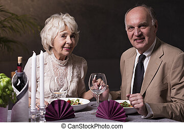 Never too old for romance - Lovely elegant older woman and...