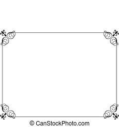 Decorative border - Decorative black border on a white...