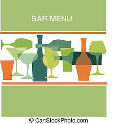 bar menu design, vector illustration